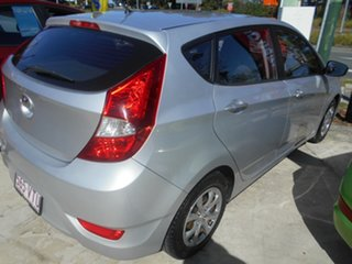 2014 Hyundai Accent RB2 MY15 Active Silver 4 Speed Sports Automatic Hatchback