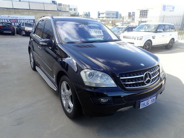 Used Mercedes-Benz ML350 W164 08 Upgrade 4x4 Wangara, 2008 Mercedes-Benz ML350 W164 08 Upgrade 4x4 Black Metallic 7 Speed Automatic G-Tronic Wagon