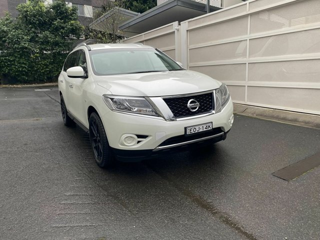 Used Nissan Pathfinder R52 MY15 ST X-tronic 2WD Zetland, 2016 Nissan Pathfinder R52 MY15 ST X-tronic 2WD White 1 Speed Constant Variable Wagon