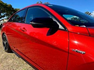 2021 Hyundai i30 CN7.V1 MY21 N Line D-CT Premium Lava Orange 7 Speed Sports Automatic Dual Clutch.