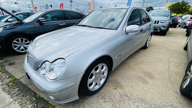 Used Mercedes-Benz C-Class W203 MY2006 C180 Kompressor Classic Maidstone, 2005 Mercedes-Benz C-Class W203 MY2006 C180 Kompressor Classic Silver 5 Speed Automatic Sedan
