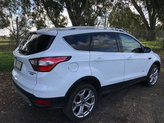 2018 Ford Escape ZG 2018.75MY Titanium White 6 Speed Sports Automatic Dual Clutch SUV.