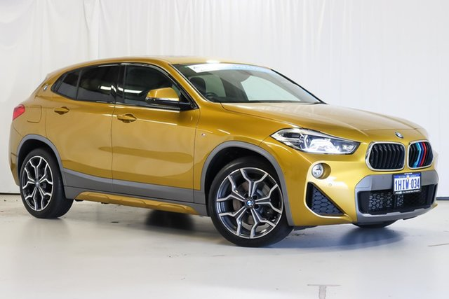 Used BMW X2 F39 sDrive20i Coupe DCT Steptronic M Sport Wangara, 2018 BMW X2 F39 sDrive20i Coupe DCT Steptronic M Sport Gold 7 Speed Sports Automatic Dual Clutch
