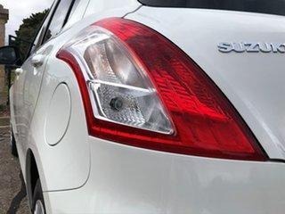 2016 Suzuki Swift FZ MY15 GL White 5 Speed Manual Hatchback