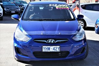 2011 Hyundai Accent RB Active Ocean Blue 4 Speed Sports Automatic Hatchback.