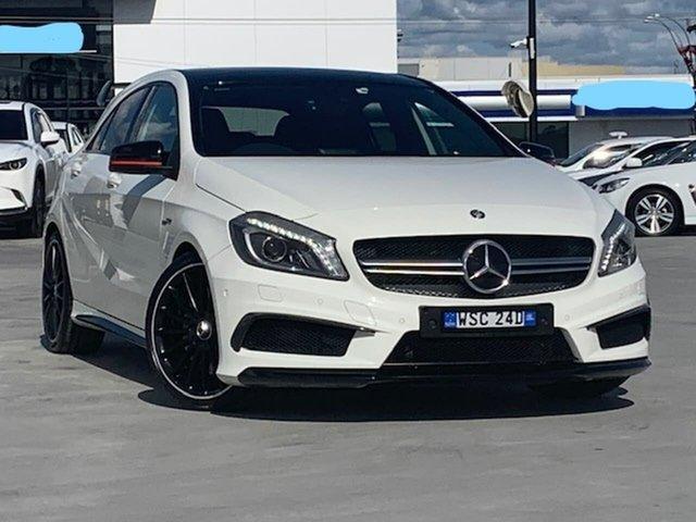 Used Mercedes-Benz A-Class W176 A45 AMG SPEEDSHIFT DCT 4MATIC Liverpool, 2013 Mercedes-Benz A-Class W176 A45 AMG SPEEDSHIFT DCT 4MATIC White 7 Speed