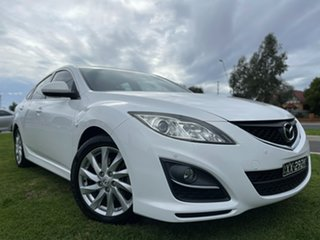 2012 Mazda 6 GH1052 MY12 Touring Crystal White 5 Speed Sports Automatic Hatchback.