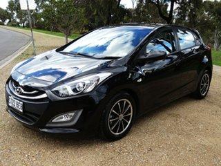 2013 Hyundai i30 GD Active Black 6 Speed Sports Automatic Hatchback.