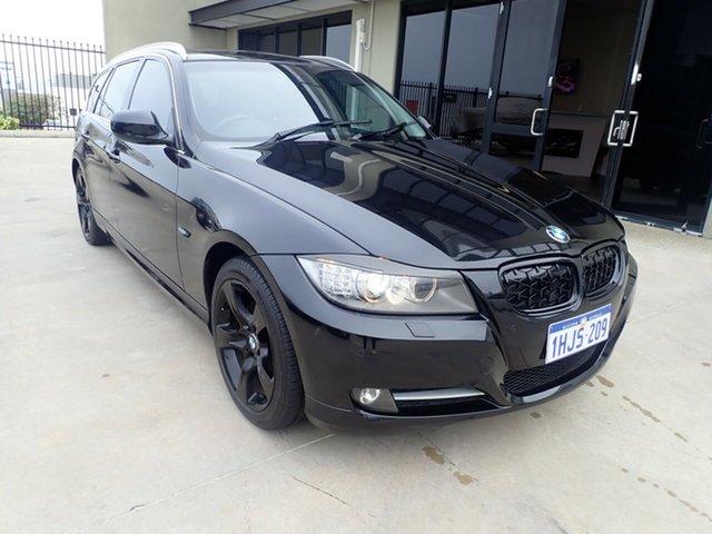 Used BMW 320d E91 MY11 Touring Lifestyle Wangara, 2011 BMW 320d E91 MY11 Touring Lifestyle Black Metallic 6 Speed Auto Steptronic Wagon