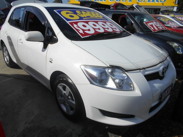 Used Toyota Corolla ZRE152R Ascent Springwood, 2009 Toyota Corolla ZRE152R Ascent White 6 Speed Manual Hatchback