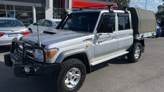 Used Toyota Landcruiser VDJ79R GXL Double Cab Maitland, 2017 Toyota Landcruiser VDJ79R GXL Double Cab Silver 5 Speed Manual Cab Chassis