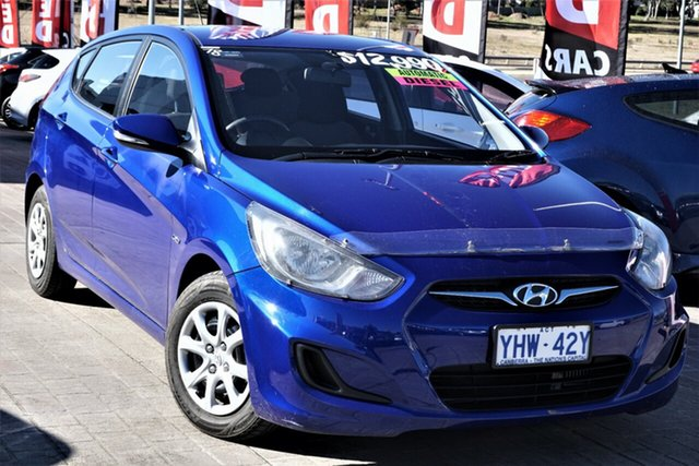 Used Hyundai Accent RB Active Phillip, 2011 Hyundai Accent RB Active Ocean Blue 4 Speed Sports Automatic Hatchback