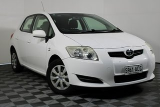 2009 Toyota Corolla ZRE152R Ascent White 6 Speed Manual Hatchback.
