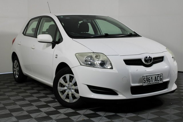 Used Toyota Corolla ZRE152R Ascent Wayville, 2009 Toyota Corolla ZRE152R Ascent White 6 Speed Manual Hatchback