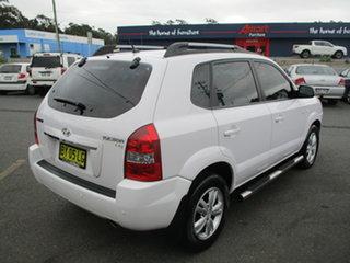2008 Hyundai Tucson 08 Upgrade City Elite White 4 Speed Automatic Wagon.