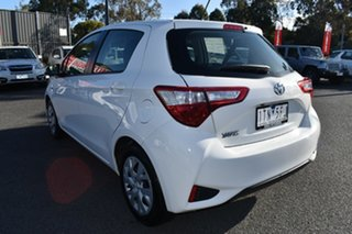 2020 Toyota Yaris NCP130R Ascent White 5 Speed Manual Hatchback.