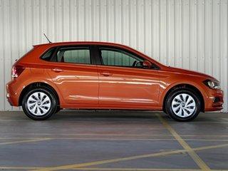 2021 Volkswagen Polo AW MY21 70TSI DSG Trendline Orange 7 Speed Sports Automatic Dual Clutch.