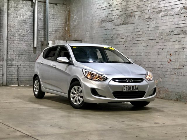 Used Hyundai Accent RB3 MY16 Active Mile End South, 2015 Hyundai Accent RB3 MY16 Active Grey 6 Speed Constant Variable Hatchback