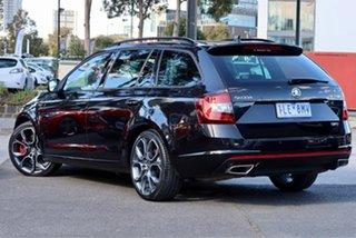2017 Skoda Octavia NE MY18 RS DSG 169TSI Black 6 Speed Sports Automatic Dual Clutch Wagon.