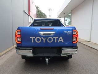 2021 Toyota Hilux GUN126R SR5 Double Cab Blue 6 Speed Sports Automatic Cab Chassis