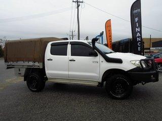 2010 Toyota Hilux KUN26R 09 Upgrade SR (4x4) White 5 Speed Manual Dual Cab Pick-up.