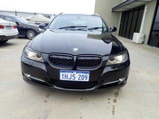 2011 BMW 320d E91 MY11 Touring Lifestyle Black Metallic 6 Speed Auto Steptronic Wagon.