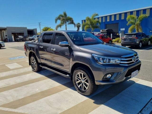 Pre-Owned Toyota Hilux GUN126R MY17 SR5 (4x4) Gladstone, 2018 Toyota Hilux GUN126R MY17 SR5 (4x4) Graphite 6 Speed Automatic Dual Cab Utility