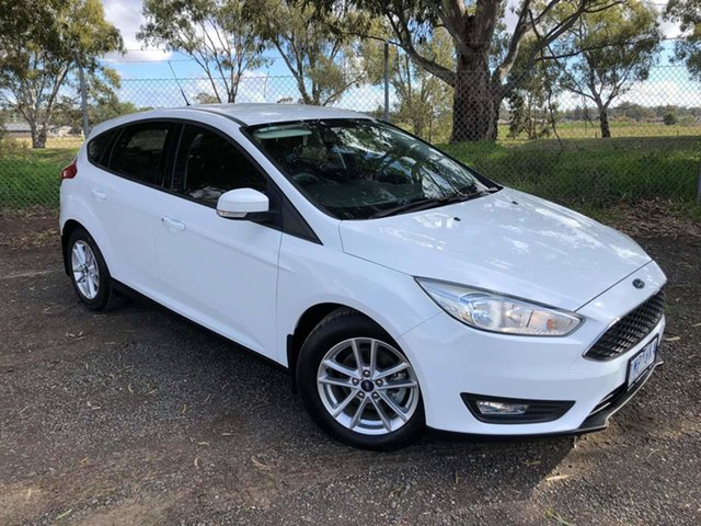 Used Ford Focus LZ Trend Epsom, 2018 Ford Focus LZ Trend White 6 Speed Automatic Hatchback