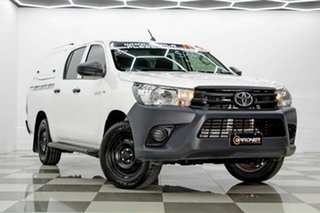 2018 Toyota Hilux TGN121R MY19 Workmate White 6 Speed Automatic Double Cab Pick Up.