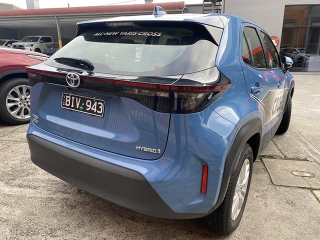 Pre-Owned Toyota Yaris Cross MXPJ15R GX AWD Preston, 2020 Toyota Yaris Cross MXPJ15R GX AWD Mineral Blue 1 Speed Constant Variable Wagon Hybrid