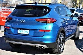 2018 Hyundai Tucson TL3 MY19 Highlander D-CT AWD Aqua Blue 7 Speed Sports Automatic Dual Clutch