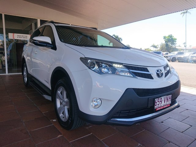 Pre-Owned Toyota RAV4 ALA49R MY14 Upgrade GXL (4x4) Innisfail, 2014 Toyota RAV4 ALA49R MY14 Upgrade GXL (4x4) Glacier White 6 Speed Automatic Wagon