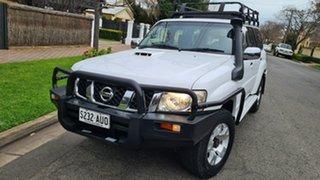 2010 Nissan Patrol GU VII ST (4x4) White 5 Speed Manual Wagon