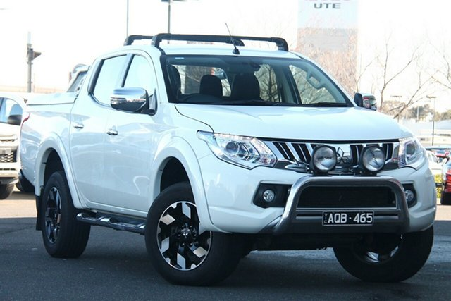 Used Mitsubishi Triton MQ MY16 Exceed Double Cab Essendon North, 2016 Mitsubishi Triton MQ MY16 Exceed Double Cab White 5 Speed Sports Automatic Utility