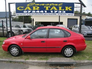 2000 Toyota Corolla AE112R Ascent Seca Red 4 Speed Automatic Liftback.