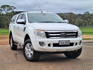 2014 Ford Ranger PX XLT Double Cab 4x2 Hi-Rider White 6 Speed Sports Automatic Utility.