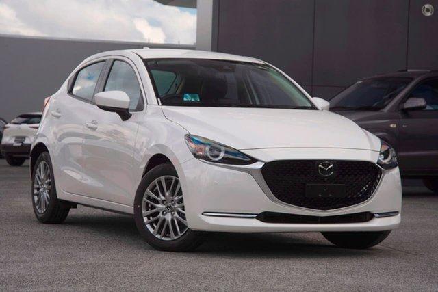 New Mazda 2 DJ2HAA G15 SKYACTIV-Drive GT Waitara, 2021 Mazda 2 DJ2HAA G15 SKYACTIV-Drive GT White 6 Speed Sports Automatic Hatchback