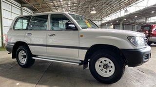 2002 Toyota Landcruiser HZJ105R Standard White 5 Speed Manual Wagon.