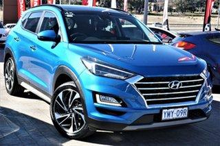 2018 Hyundai Tucson TL3 MY19 Highlander D-CT AWD Aqua Blue 7 Speed Sports Automatic Dual Clutch.