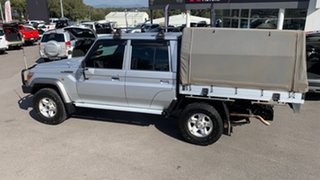 2017 Toyota Landcruiser VDJ79R GXL Double Cab Silver 5 Speed Manual Cab Chassis