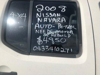 2008 Nissan Navara D40 White Automatic Utility.