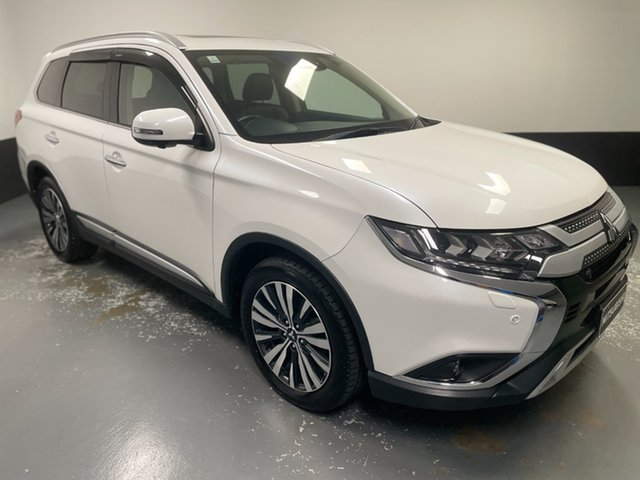 Used Mitsubishi Outlander ZL MY19 Exceed AWD Hamilton, 2018 Mitsubishi Outlander ZL MY19 Exceed AWD White 6 Speed Sports Automatic Wagon