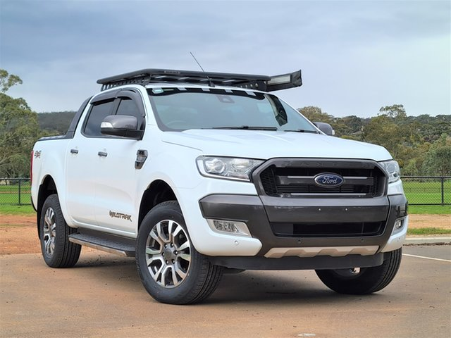 Used Ford Ranger PX MkII 2018.00MY Wildtrak Double Cab St Marys, 2018 Ford Ranger PX MkII 2018.00MY Wildtrak Double Cab White 6 Speed Sports Automatic Utility