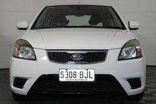 2010 Kia Rio JB MY11 S White 5 Speed Manual Hatchback