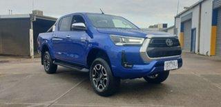 2020 Toyota Hilux GUN126R SR5 Double Cab Blue 6 Speed Sports Automatic Utility.