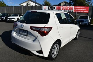 2020 Toyota Yaris NCP130R Ascent White 5 Speed Manual Hatchback