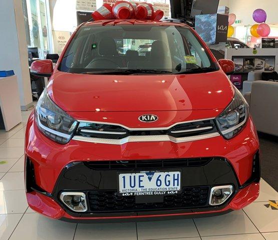 Demo Kia Picanto JA MY21 GT-Line Ferntree Gully, 2021 Kia Picanto JA MY21 GT-Line Signal Red 4 Speed Automatic Hatchback