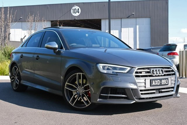 Used Audi S3 8V MY18 Limited Edition S Tronic Quattro Essendon Fields, 2018 Audi S3 8V MY18 Limited Edition S Tronic Quattro Grey 7 Speed Sports Automatic Dual Clutch