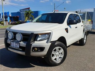 2012 Ford Ranger PX XL Hi-Rider White 6 Speed Sports Automatic Cab Chassis.
