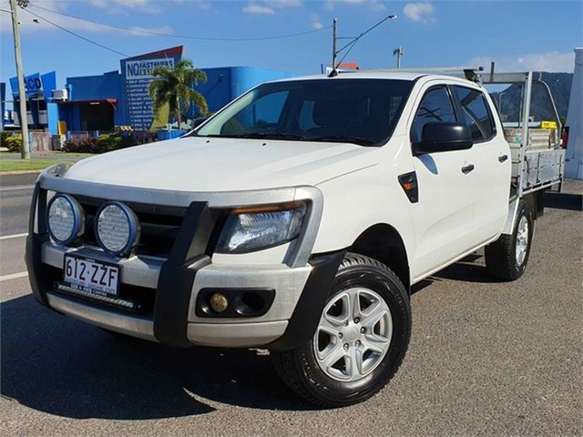 Used Ford Ranger PX XL Hi-Rider Bungalow, 2012 Ford Ranger PX XL Hi-Rider White 6 Speed Sports Automatic Cab Chassis